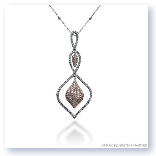 Mark Silverstein Imagines 18K White and Rose Gold Three Teardrop Diamond Pendant