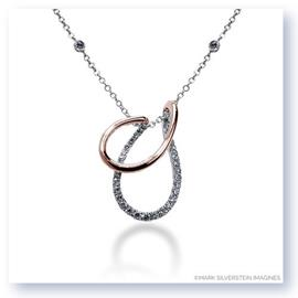 Mark Silverstein Imagines 18K White and Rose Gold Draped Diamond Pendant