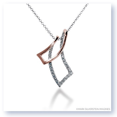 Mark Silverstein Imagines 18K White and Rose Gold Mirrored Angle Diamond Pendant