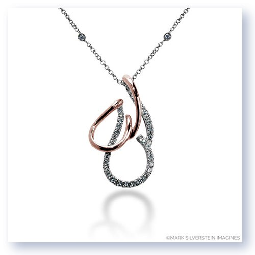 Mark Silverstein Imagines 18K White and Rose Gold Dual Layer Design Diamond Pendant