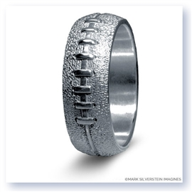 Mark Silverstein Imagines Sterling Silver Football Themed Men's Wedding Band