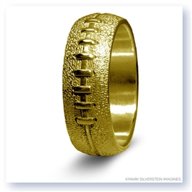 Mark Silverstein Imagines 14K Yellow Gold Football Themed Men's Wedding Band
