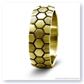Mark Silverstein Imagines 14K Yellow Gold Soccer Themed Men's Wedding Band