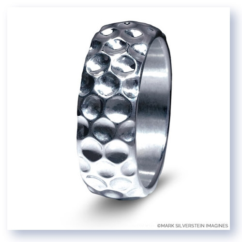 Mark Silverstein Imagines Sterling Silver Golf Themed Men's Wedding Band
