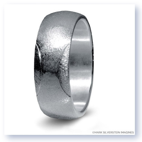 Mark Silverstein Imagines Sterling Silver Tennis Themed Men's Wedding Band