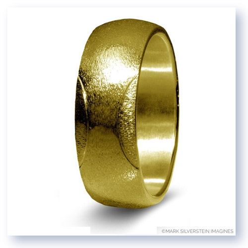 Mark Silverstein Imagines 14K Yellow Gold Tennis Themed Men's Wedding Band