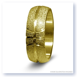 Mark Silverstein Imagines 14K Yellow Gold Basketball Themed Men's Wedding Band
