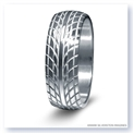 Mark Silverstein Imagines Sterling Silver Road Racing Themed Men's Wedding Band