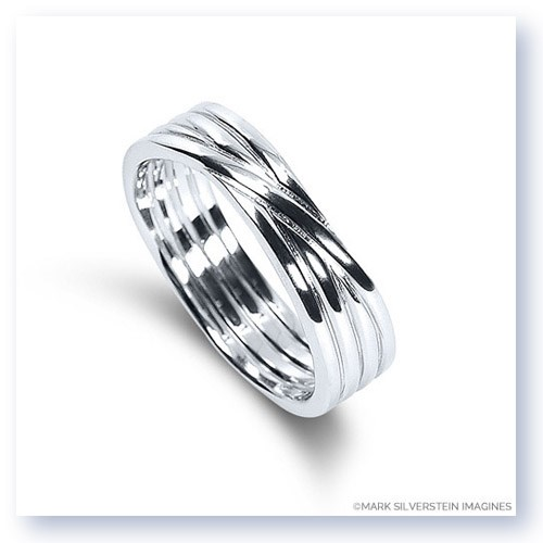 Mark Silverstein Imagines 18K White Gold Polished Four Loop Men's Wedding Band