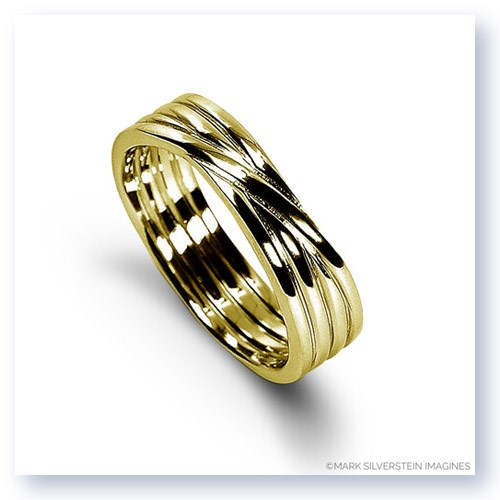 Mark Silverstein Imagines 18K Yellow Gold Polished Four Loop Men's Wedding Band