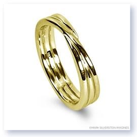 Mark Silverstein Imagines 18K Yellow Gold Polished Three Loop Men's Wedding Band