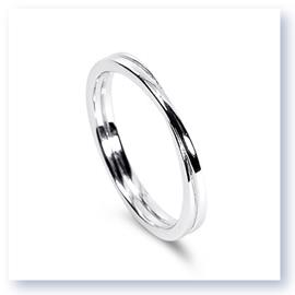 Mark Silverstein Imagines 18K White Gold Polished Double Loop Men's Wedding Band