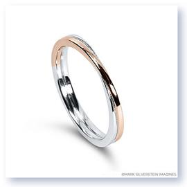 Mark Silverstein Imagines 18K White and Rose Gold Polished Double Loop Men's Wedding Band