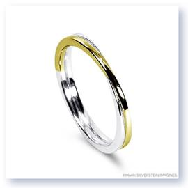 Mark Silverstein Imagines 18K White and Yellow Gold Polished Double Loop Men's Wedding Band