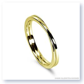Mark Silverstein Imagines 18K Yellow Gold Polished Double Loop Men's Wedding Band