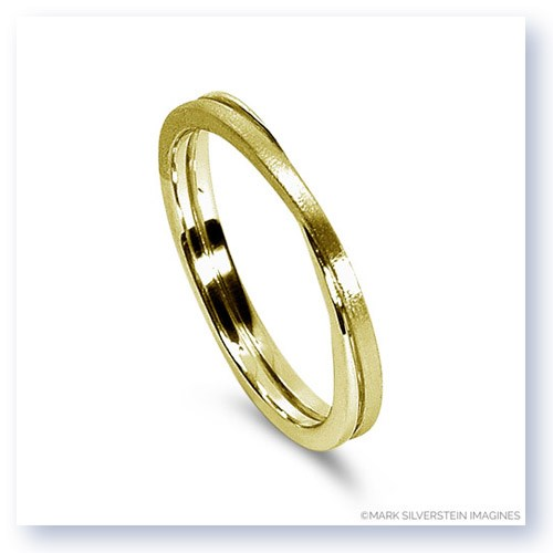 Mark Silverstein Imagines 18K Yellow Gold Polished and Brushed Double Loop Men's Wedding Band