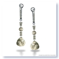 Mark Silverstein Imagines 18K White Gold and Platinum Diamond Slice Dangle Earrings