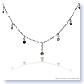 Mark Silverstein Imagines 18K White Gold and Platinum Fancy Colored Diamond Necklace