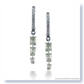 Mark Silverstein Imagines 18K White Gold and Platinum Princess Cut Diamond Dangle Earrings