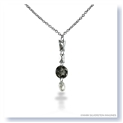 Mark Silverstein Imagines 18K White Gold and Platinum White and Grey Diamond Y Shape Pendant Necklace