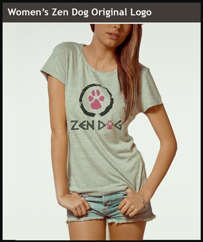 WOMEN'S ZEN DOG ORIGINAL LOGO *FITTED*