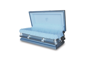46 Youth Blue - 20 Gauge Gasketed Casket
