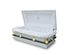 46 Youth White - 20 Gauge Gasketed Casket