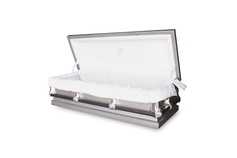 56 Youth Silver - 20 Gauge Gasketed Casket