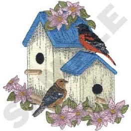 Blue Birdhouse Head Panel Insert