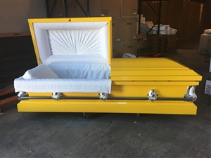 Custom Yello Casket