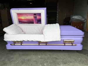 Custom Purple Casket