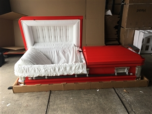Custom Red Casket