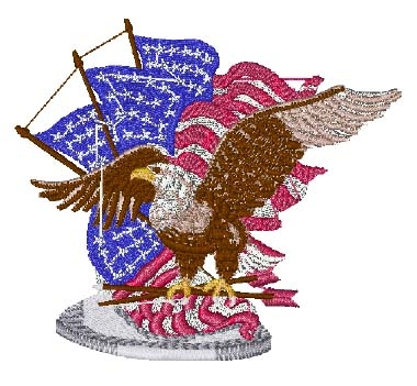 Eagle With Flags Head Panel Insert