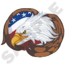Eagle w/ Flag Head Panel Insert