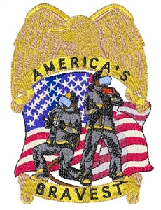 Americas Bravest w/ Badge Head Panel Insert