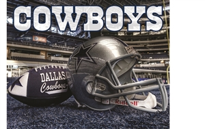 Football Dallas Cowboys Head Panel Insert