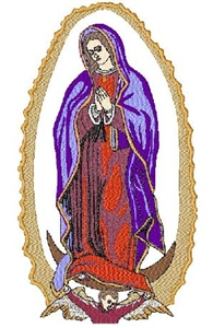 Lady Guadalupe Head Panel Insert