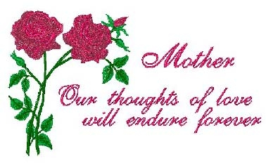Mother with Roses Head Panel Insert