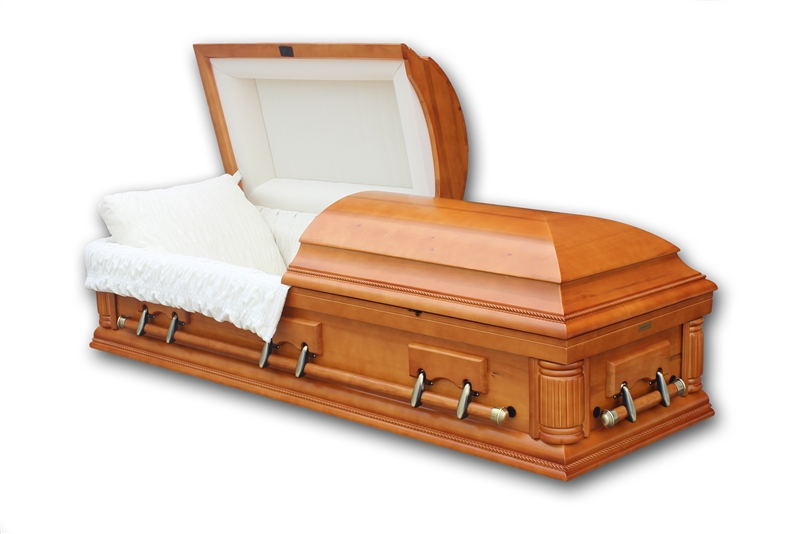 Poplar - Solid Wood Casket