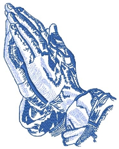 Praying Hands Outline Head Panel Insert