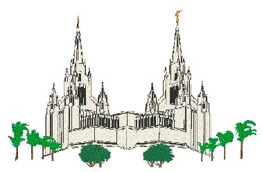 San Diego Temple Head Panel Insert