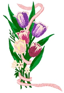 Tulips Bouquet Head Panel Insert