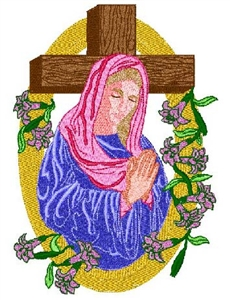 Virgin Mary Head Panel Insert