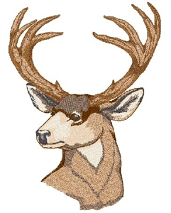 Mule Deer Bust Head Panel Insert