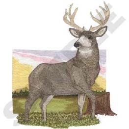 Mule Deer-Gray  Head Panel Insert