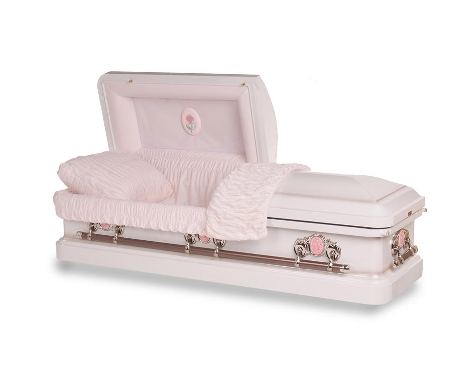 athena rose white casket fastcaskets com