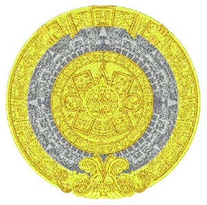 Aztec Calendar Head Panel Insert