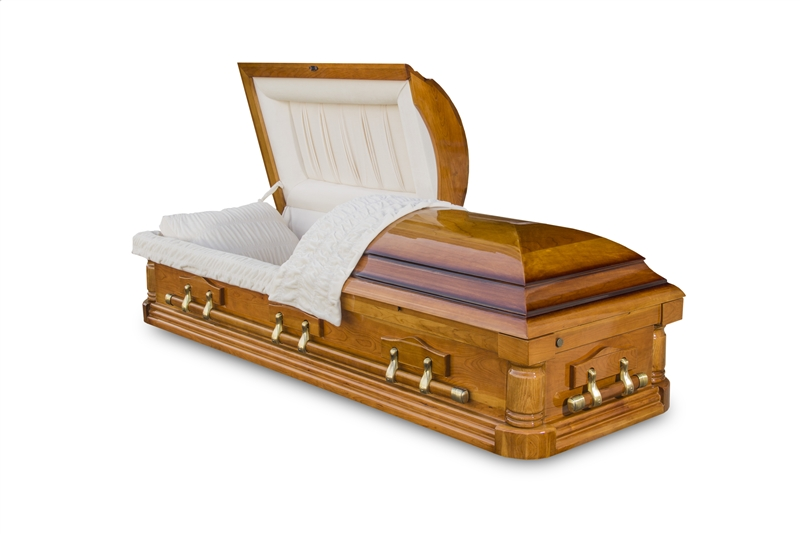 Birkshire Cherry Hardwood Casket