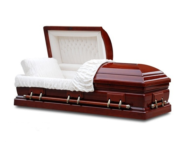 Clearance Cherry Wood Casket