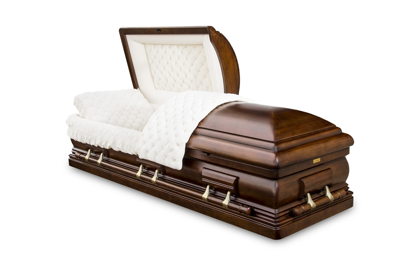 Clearance Walnut Wood Casket
